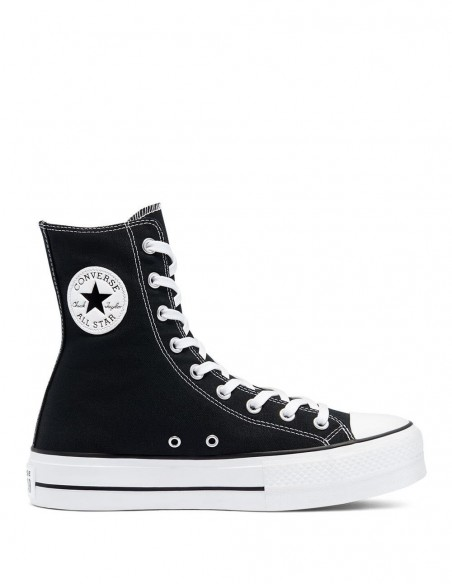 Converse Chuck Taylor All Star High Top con Plataforma Negra Mujer
