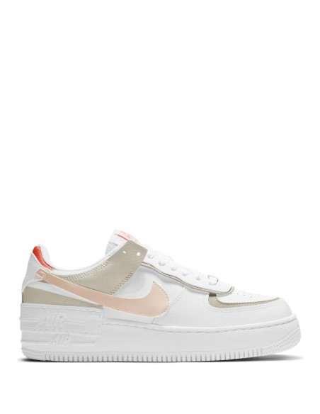 Nike Air Force 1 Shadow Blancas y Mango Mujer