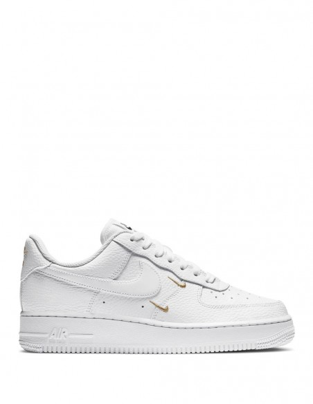 Nike Air Force 1 07 Essential Blancas Minilogos Dorados Mujer