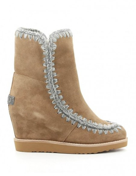 Botas Mou French Toe Skimo Wedge Short Marrones Mujer FW151002A-DKST