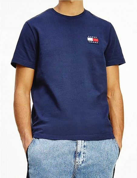 Camiseta Tommy Jeans Badge Azul Hombre