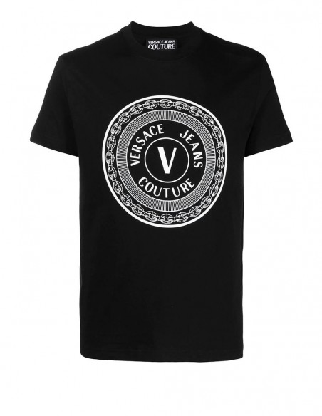 Camiseta Versace Jeans Couture Negra Hombre