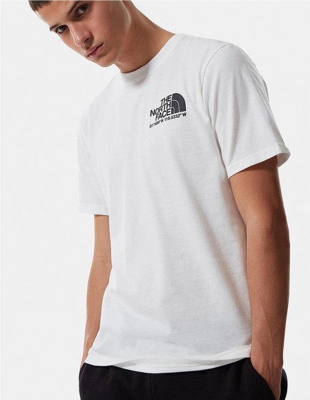 Camiseta The North Face Coordinates Blanca Hombre Nf0a52y8fn4 White