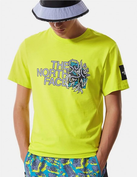 Camiseta The North Face Black Box Verde Hombre