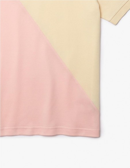 Polo Lacoste Live Loose Fit Azul Bicolor Unisex Dh1232-00-Udr Pink Yellow