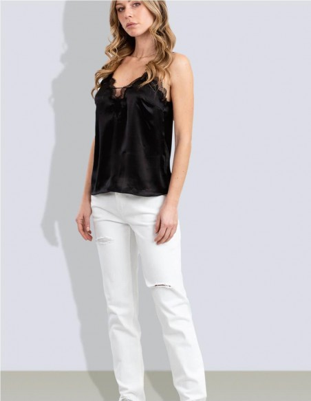 Top Miss Sixty con Encaje Negro Mujer