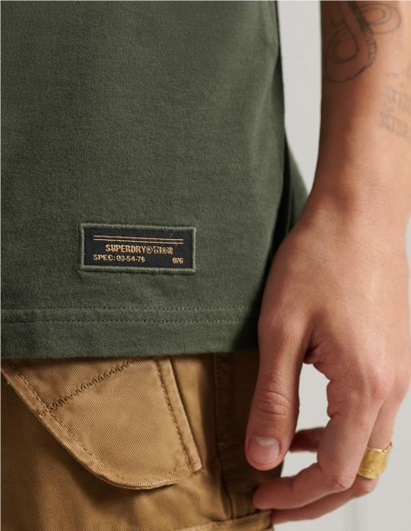 Camsiseta Superdry Military Box Fit Verde Hombre