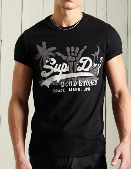 Camsiseta Superdry Dead Stoked Negra Hombre M1011200a-02A Black