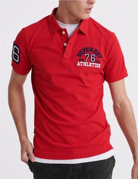 Polo Superdry Classic Superstate Rojo Hombre