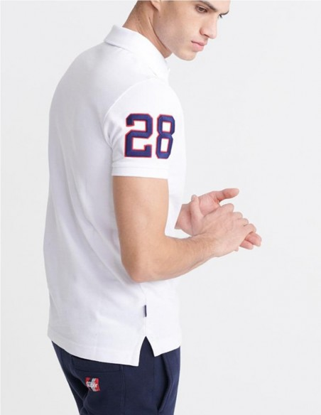 Polo Superdry Classic Superstate Blanco Hombre M1110008a-01C White