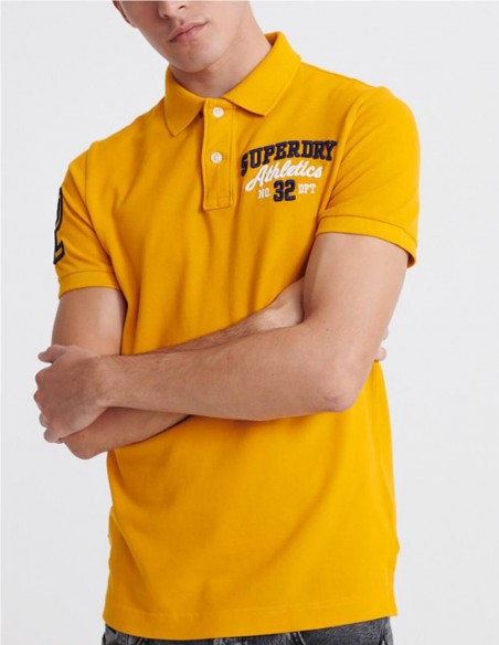 Polo Superdry Classic Superstate Naranja Hombre