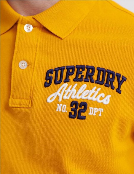Polo Superdry Classic Superstate Blanco Hombre M1110008a-01C Orange