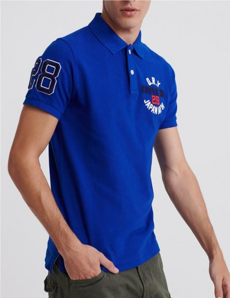 Polo Superdry Classic Superstate Azul Hombre