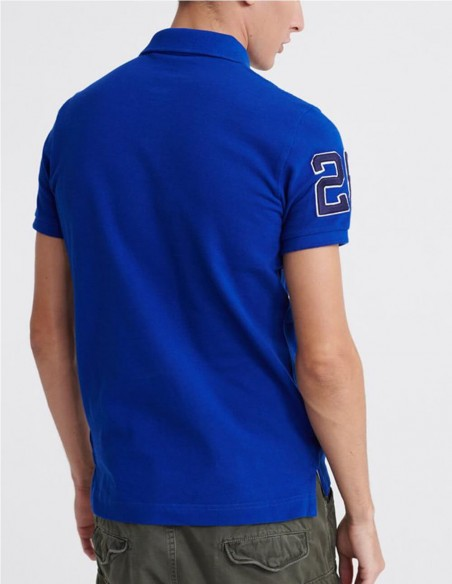 Polo Superdry Classic Superstate Blanco Hombre M1110008a-01C Blue