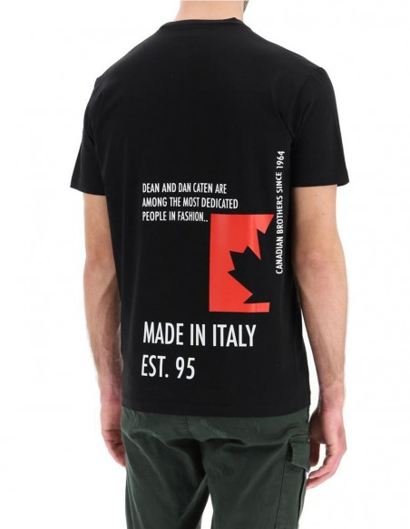 Camiseta Dsquared2 Made in Italy Negra Hombre S71GD1025-900