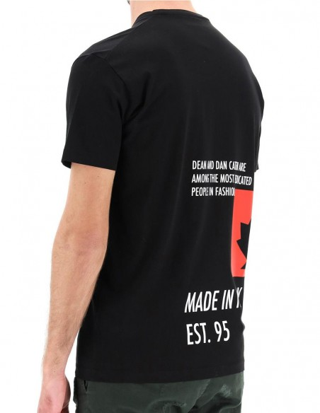 Camiseta Dsquared2 Made In Italy Negra Hombre S71gd1025-900 Black