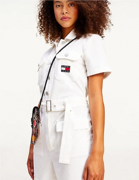 Mono Tommy Jeans Blanco Mujer