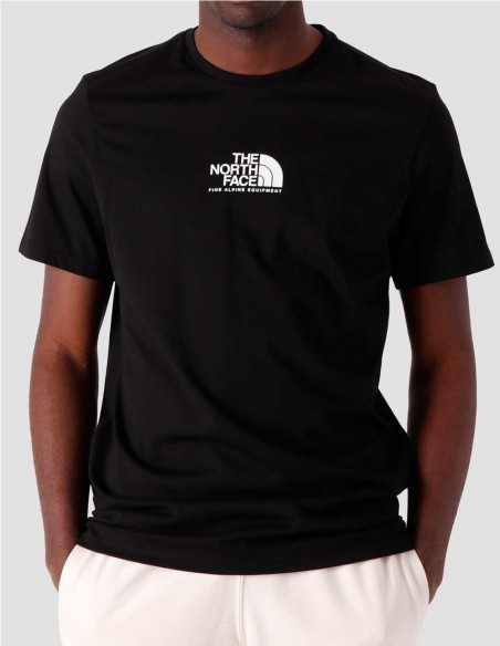 Camiseta The North Face Fine Alpine 3 Negra Hombre NF0A4SZUJK3