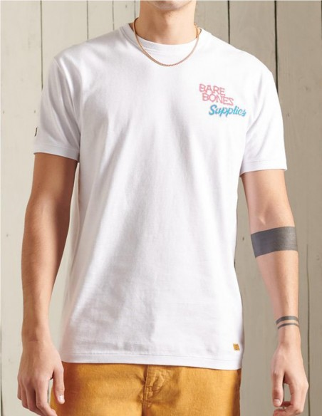 Camiseta Superdry Workwear Boxy Blanca Hombre M1010907A-T7X