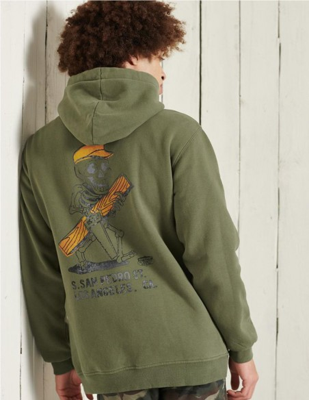 Sudadera con Capucha Superdry Workwear Verde Hombre M2010991A-M6B