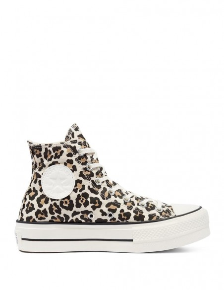 Converse Chuck Taylor All Star High Plataforma Leopardo Mujer 570915C