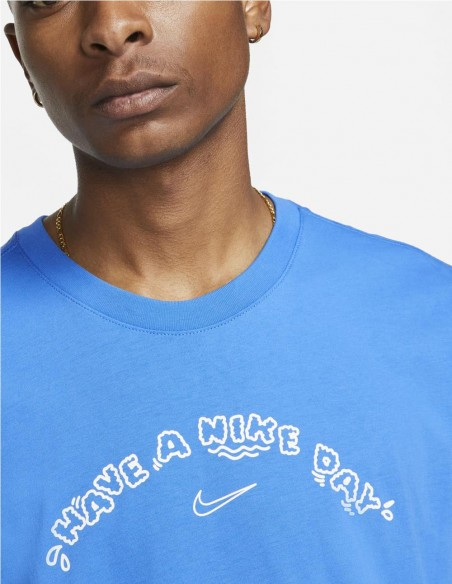 Camiseta Nike Blanca Have A Nice Day Hombre Dd1264-100 Blue
