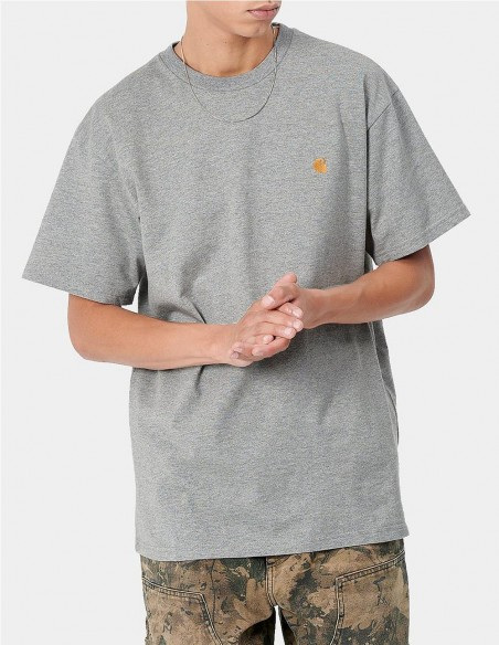 Camiseta Carhartt WIP Chase Gris Hombre