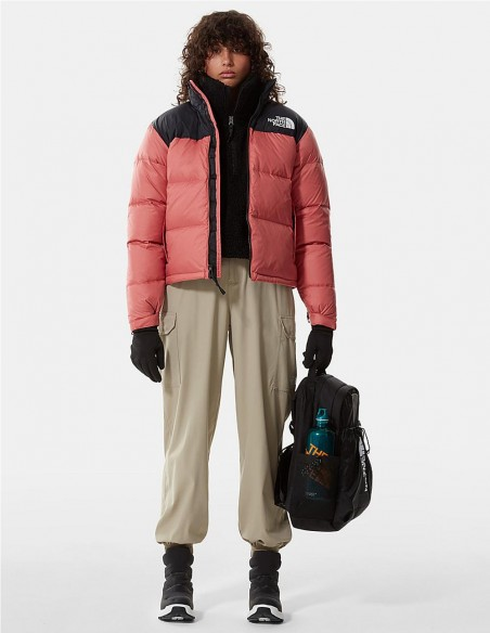 Anorak The North Face 1996 Retro Nuptse Rosa y Negro Mujer NF0A3XEOUBG1