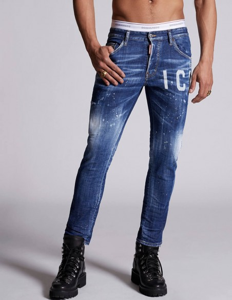 Jeans Dsquared2 Rectos Skater Azules Hombre