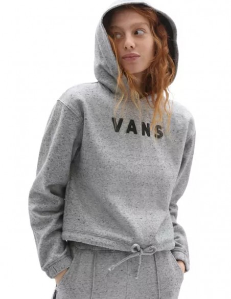 Sudadera con Capucha Vans Well Suited Gris Mujer
