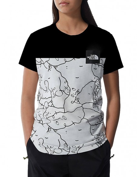 Camiseta The North Face Search & Rescue Blanca y Negra Mujer