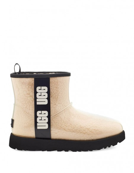 Botas UGG Classic Clear Mini Beiges Mujer 1113190-NATURAL/BLACK