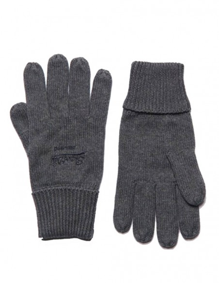 Guantes Superdry Gris Oscuro Hombre