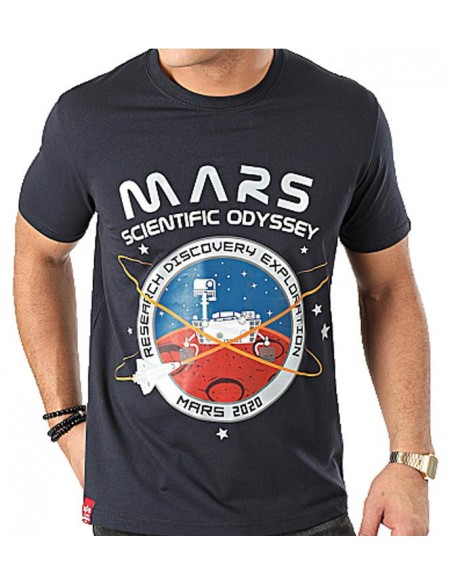 Mission To Mars T Azul Marino