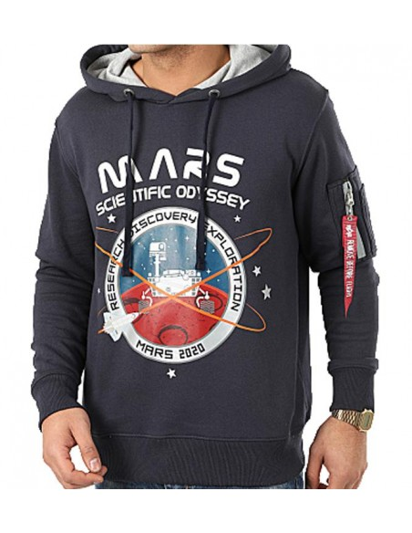 Mission To Mars Hoody Azul Marino