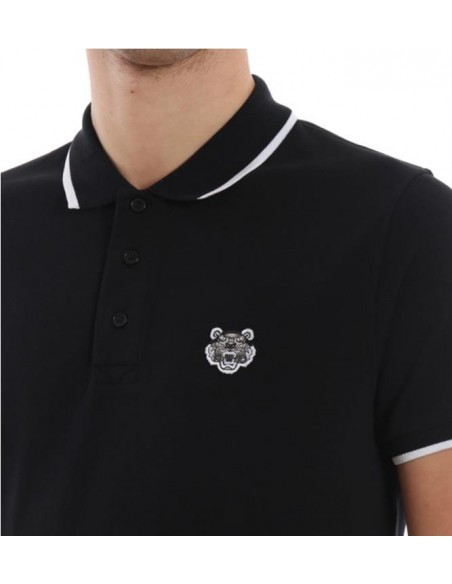 Tiger Crest K Fit Polo Negro