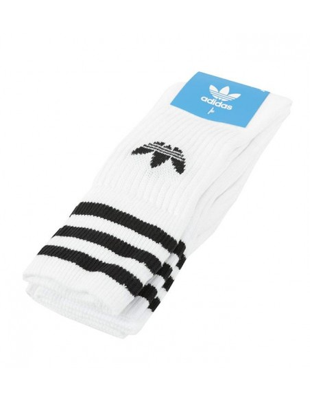 Solid Crew Sock 3 Pack White