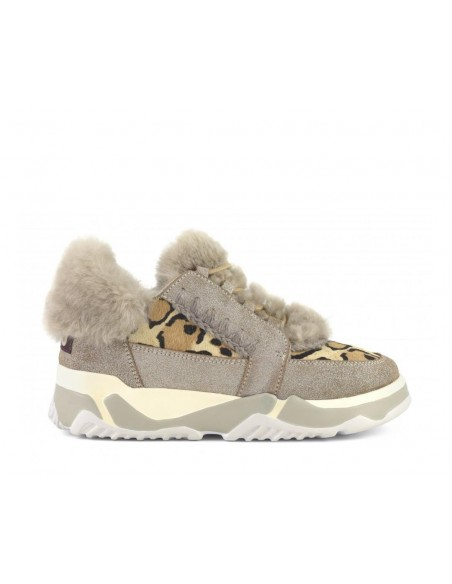 Eskimo Lace Up Trainer Camel