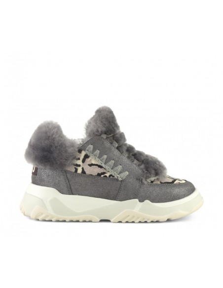 Eskimo Lace Up Trainer Gris