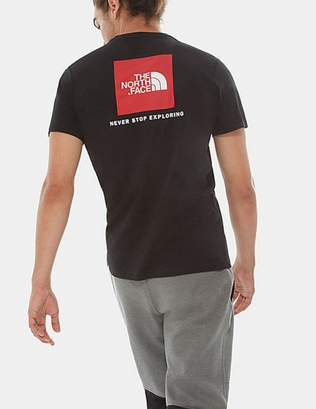 Camiseta The North Face Red Box Negra Hombre