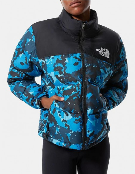 Plumas The North Face 1996 Retro Nuptse Camo Azul Mujer Nf0a3xeotpz Blue Camo