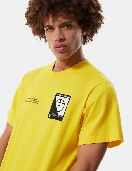 Camiseta The North Face Steep Tech Amarilla Hombre Nf0a4746rr8 Yellow