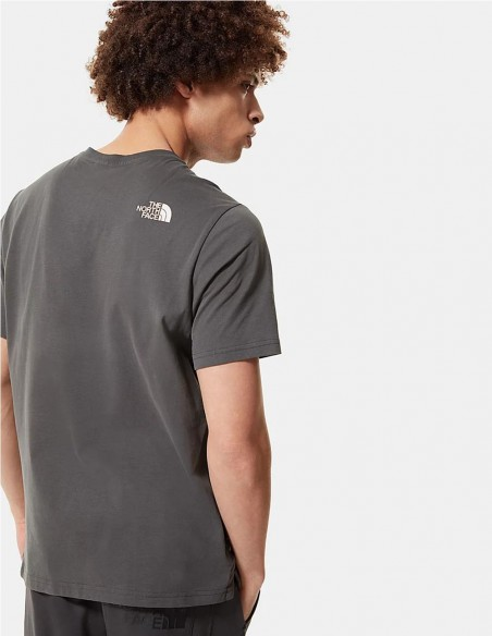 Camiseta The North Face Gris y Naranja Hombre NF0A4M6N0C5