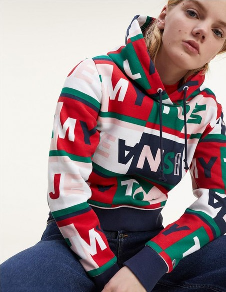 Sudadera Tommy Jeans Bloques de Colores Mujer