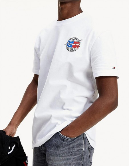Camiseta Tommy Jeans Authentic Blanco Hombre